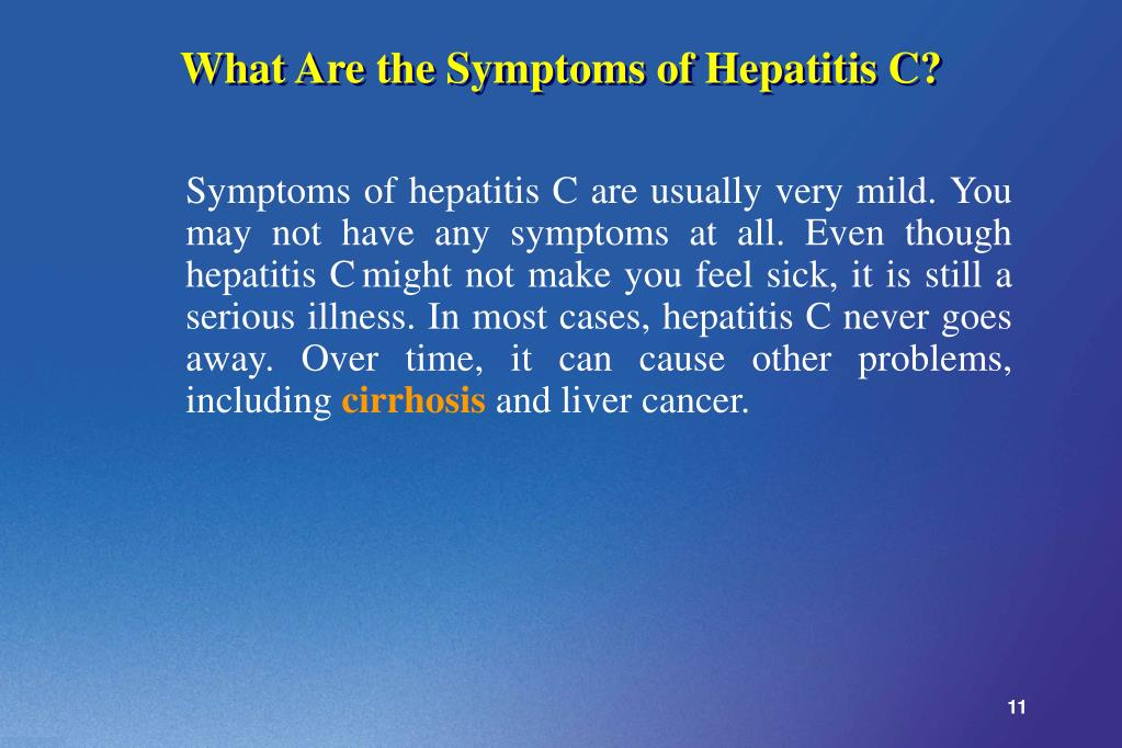 What Are the Symptoms of Hepatitis C?