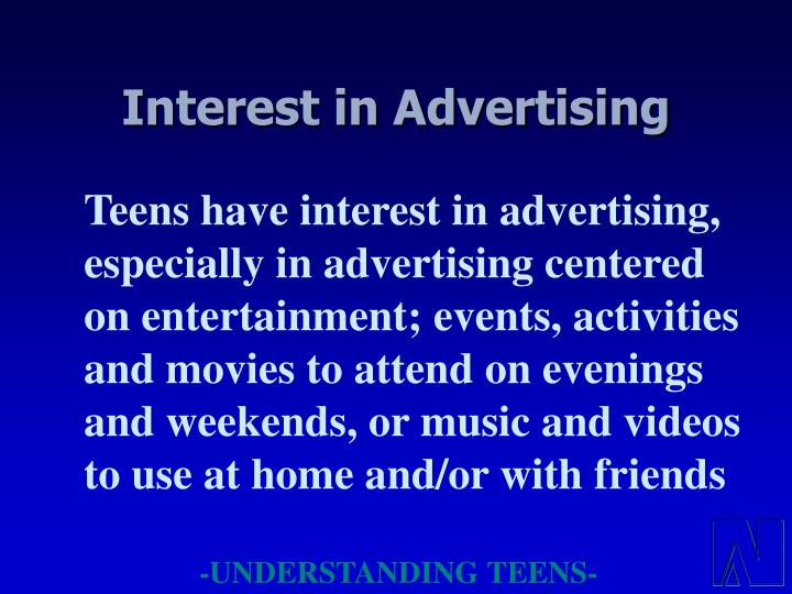 Interest in Advertising