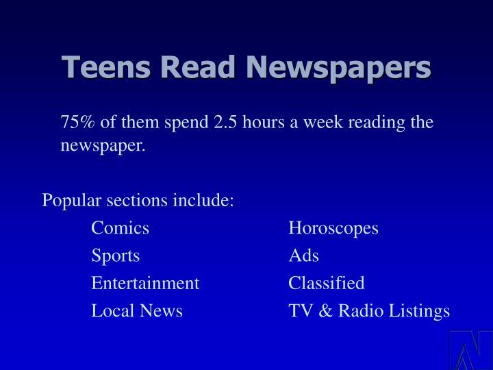 Teens Read Newspapers