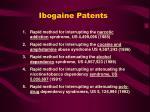 ibogaine patents