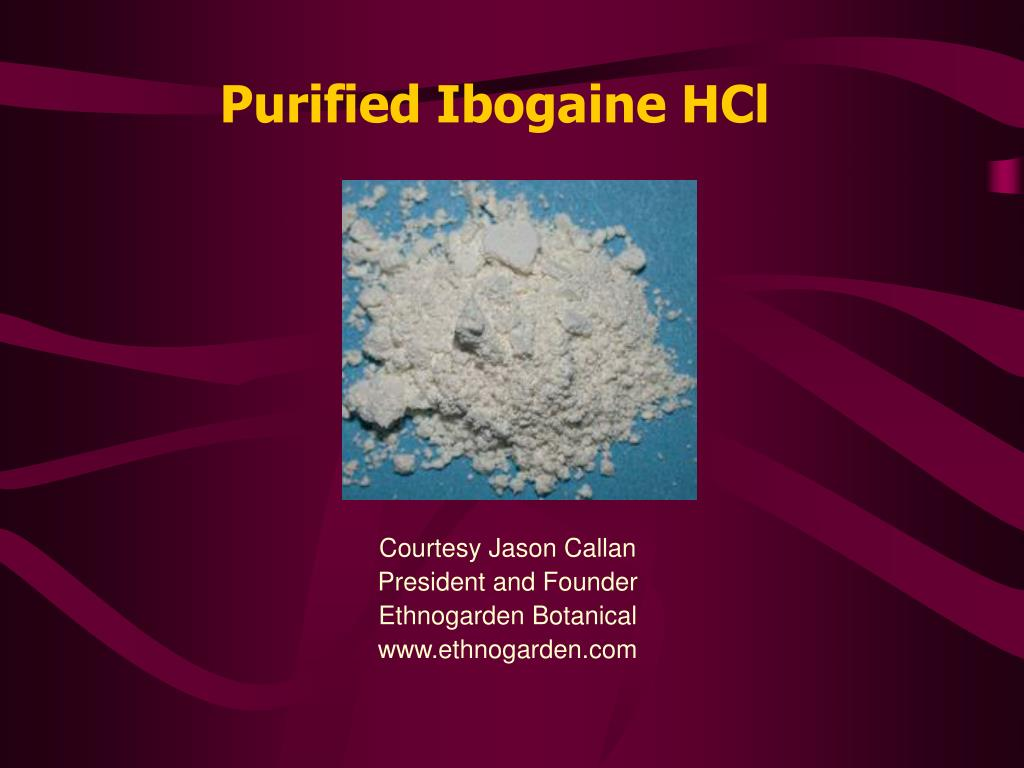 Purified Ibogaine HCl