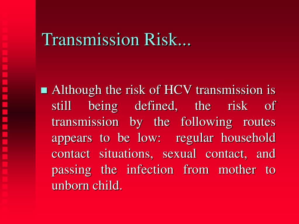 Transmission Risk...