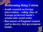 dethroning king cotton