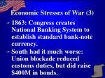 economic stresses of war 3