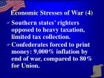 economic stresses of war 4