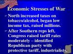 economic stresses of war