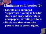limitation on liberties 3