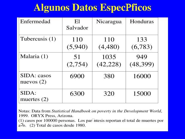 Algunos Datos Espec