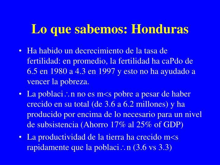 Lo que sabemos: Honduras