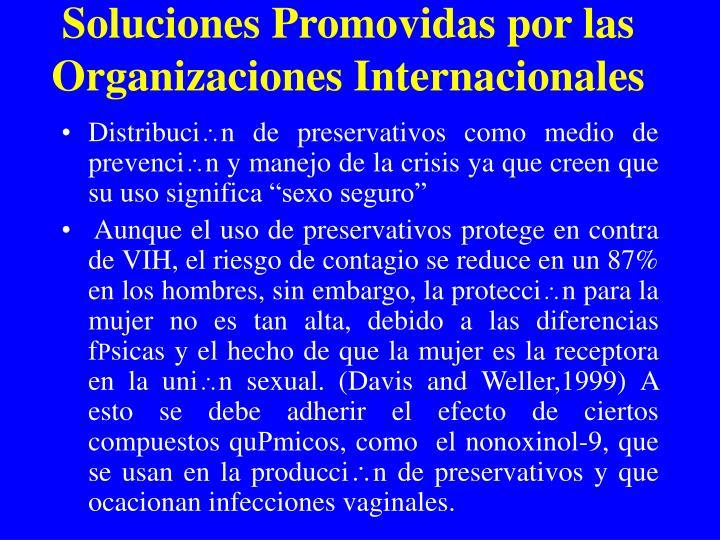 Soluciones Promovidas por las Organizaciones Internacionales