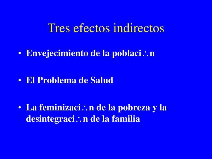 Tres efectos indirectos