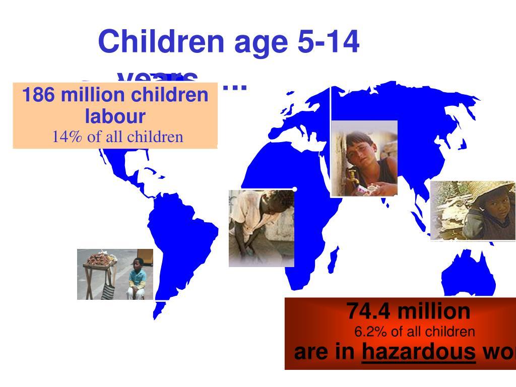 Children age 5-14 years…..