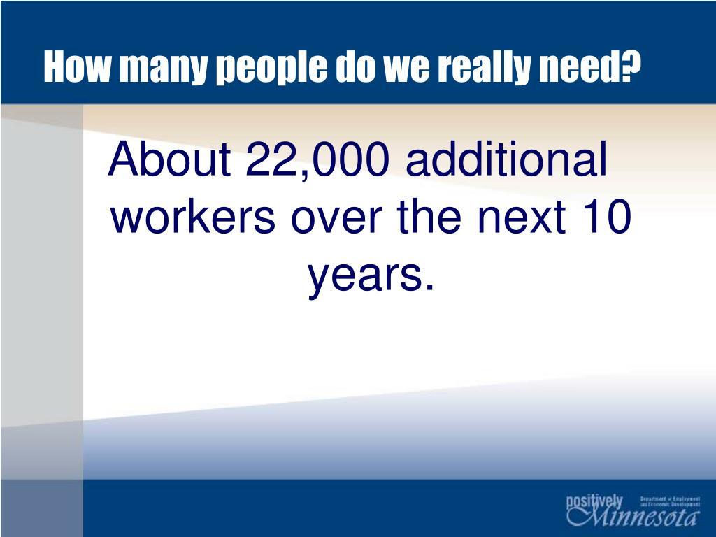 How many people do we really need?