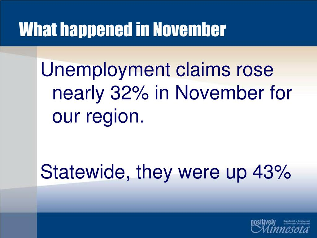 What happened in November