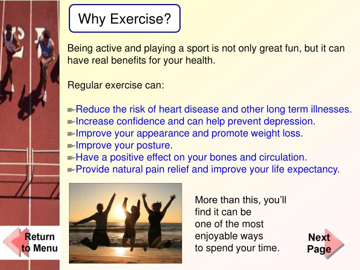 Why Exercise?