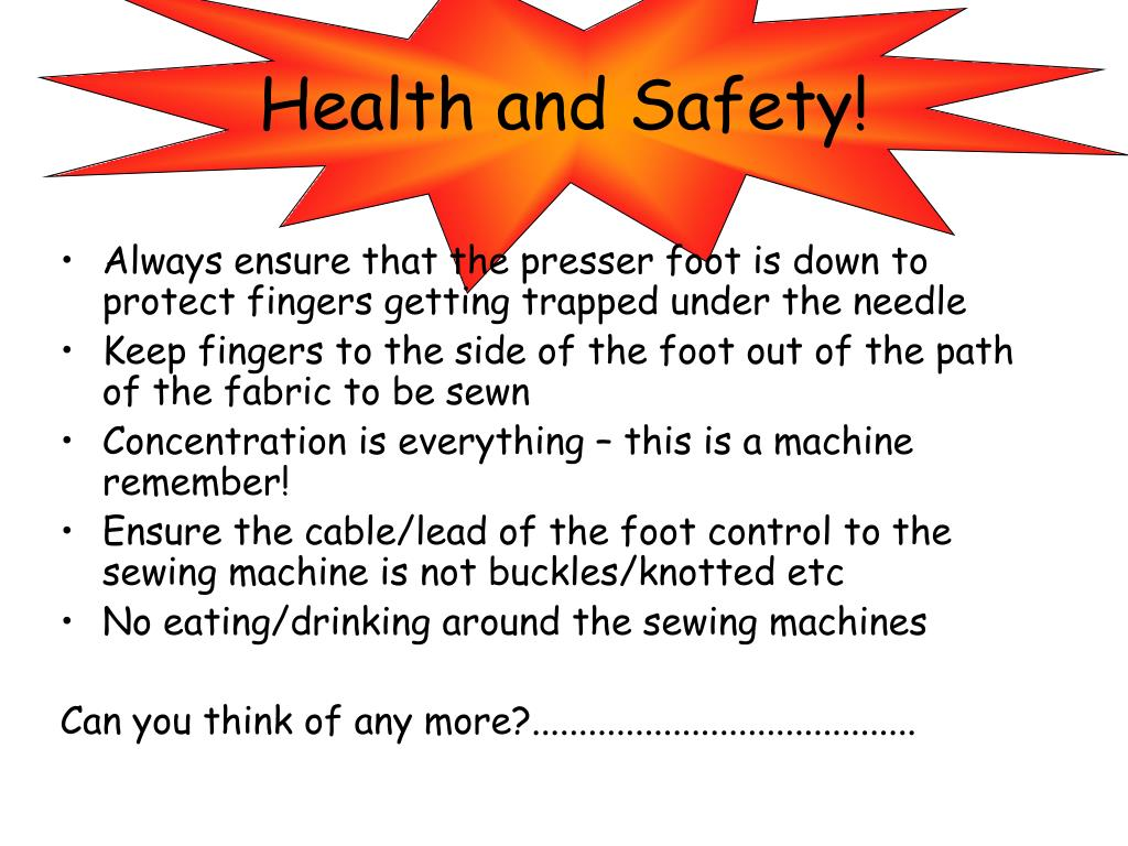 Health and Safety!