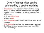 other finishes that can be achieved by a sewing machine