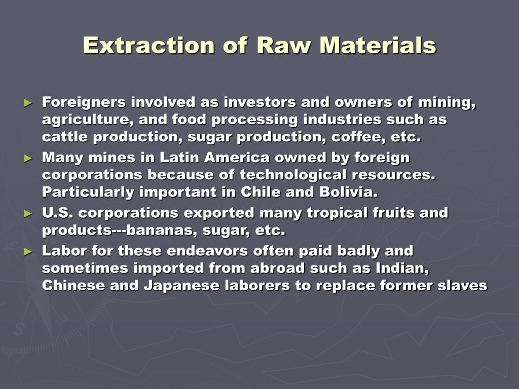 Extraction of Raw Materials