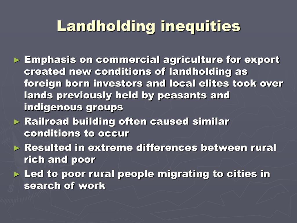 Landholding inequities