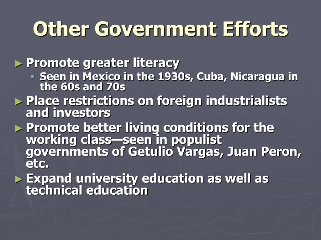 Other Government Efforts