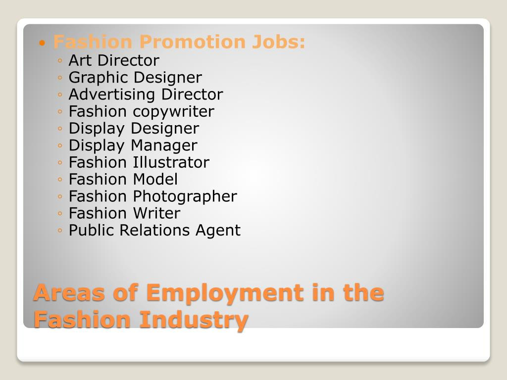 Fashion Promotion Jobs: