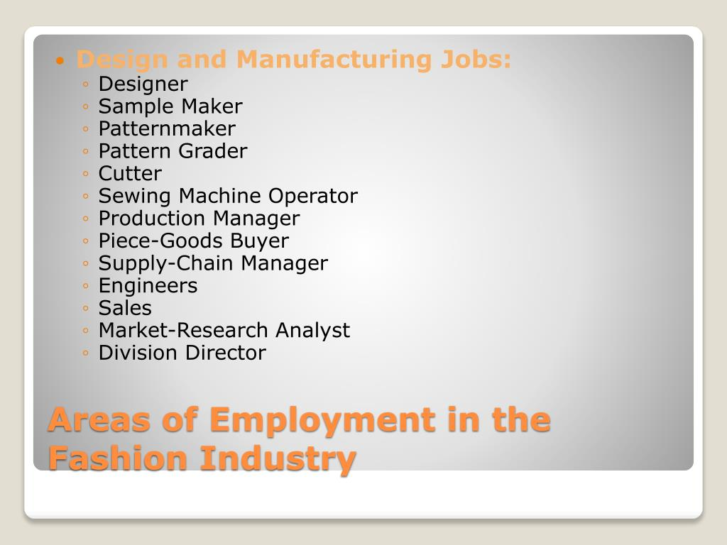 Design and Manufacturing Jobs: