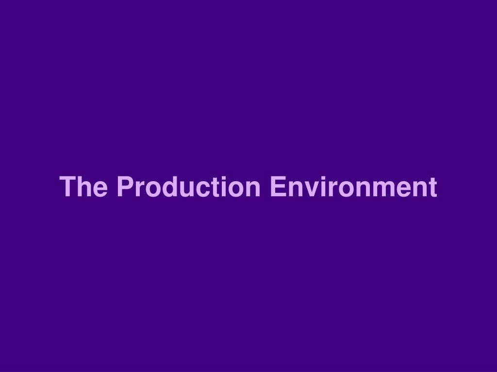 The Production Environment