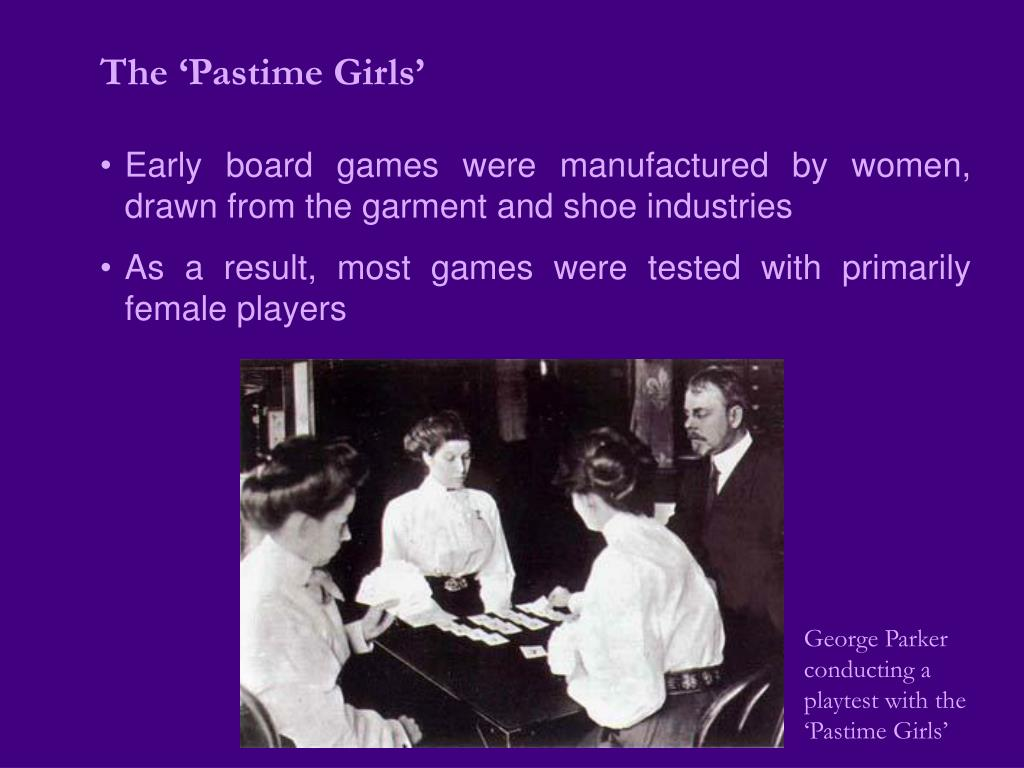 The 'Pastime Girls'
