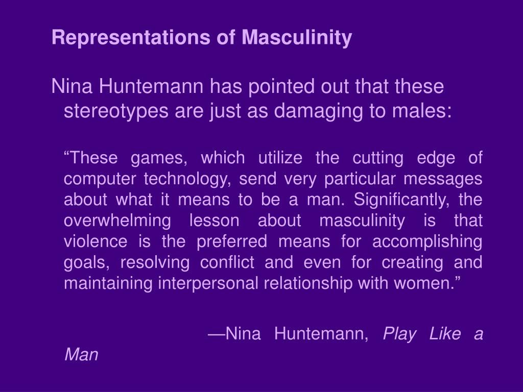 Representations of Masculinity