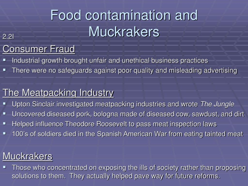 Food contamination and Muckrakers