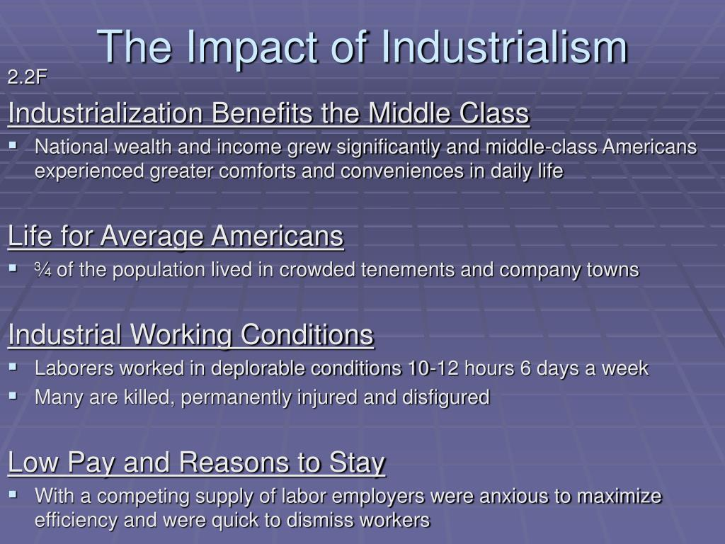 The Impact of Industrialism