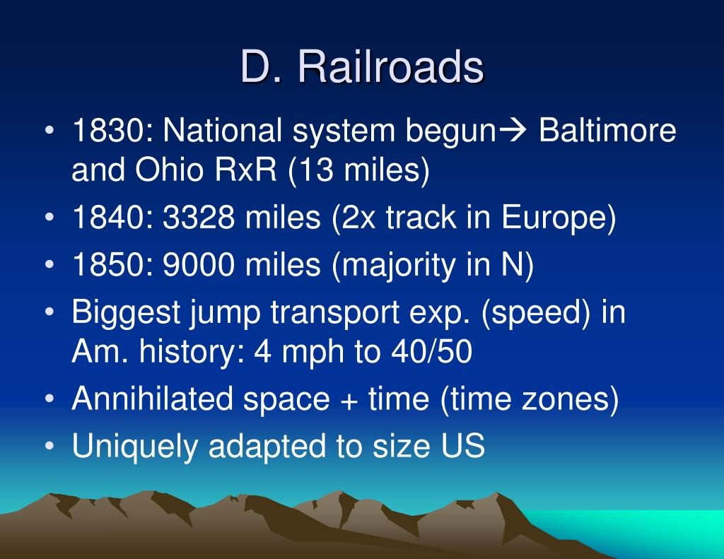 D. Railroads
