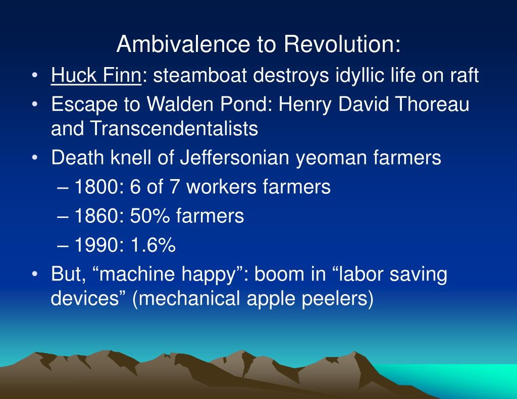 Ambivalence to Revolution: