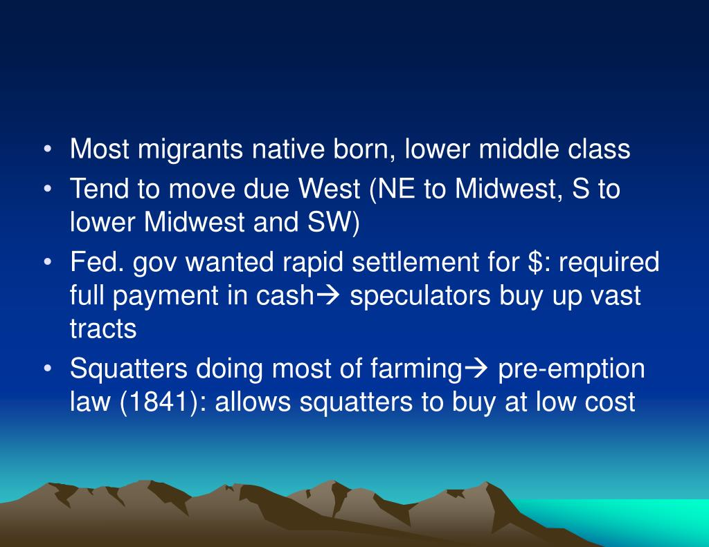 Most migrants native born, lower middle class