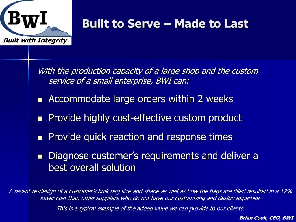 Built to Serve – Made to Last
