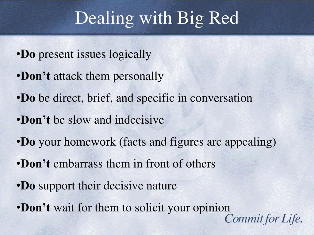 Dealing with Big Red