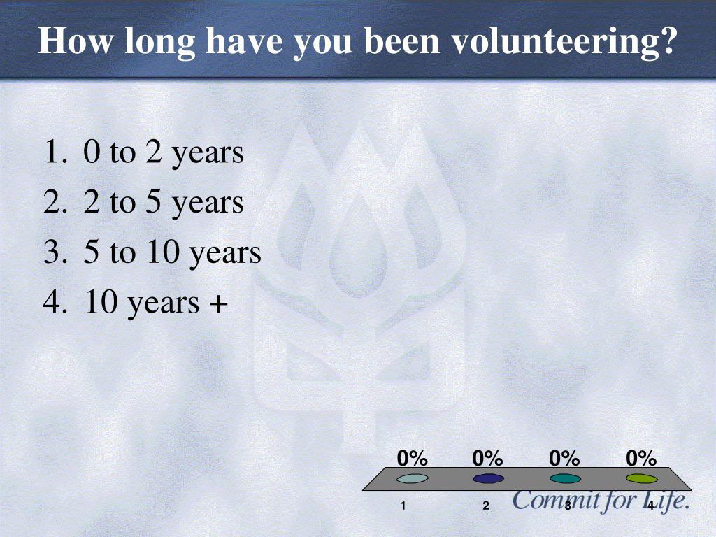 How long have you been volunteering?