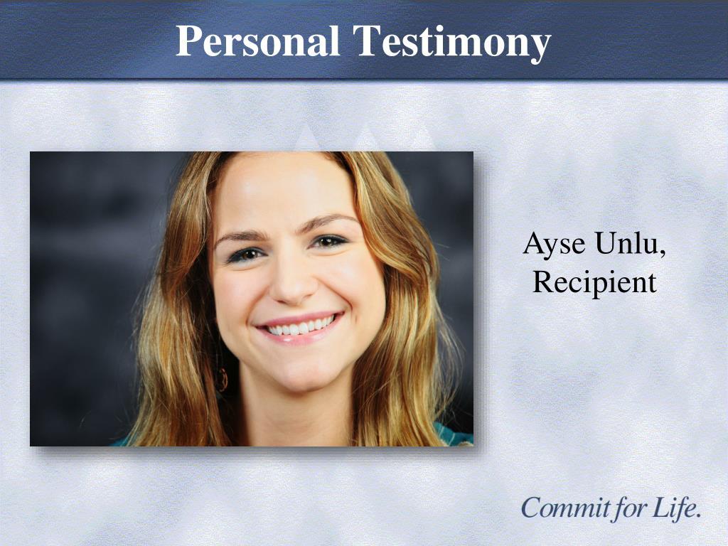 Personal Testimony