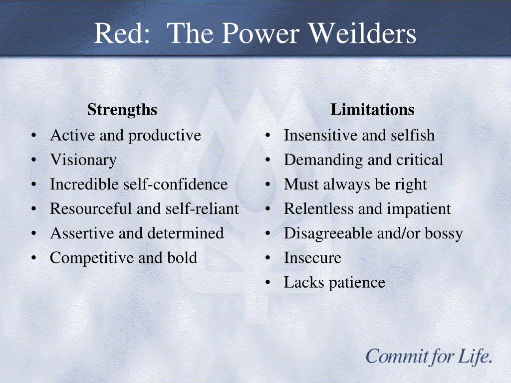 Red:  The Power Weilders