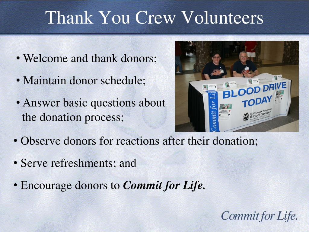 Thank You Crew Volunteers