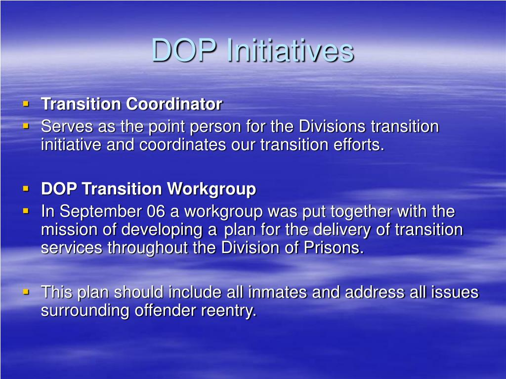 DOP Initiatives