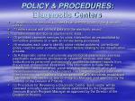 policy procedures diagnostic centers