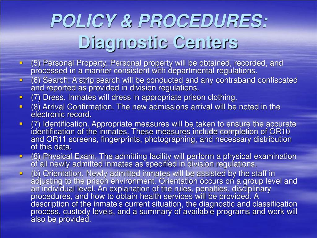 POLICY & PROCEDURES: