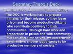 secretary theodis beck