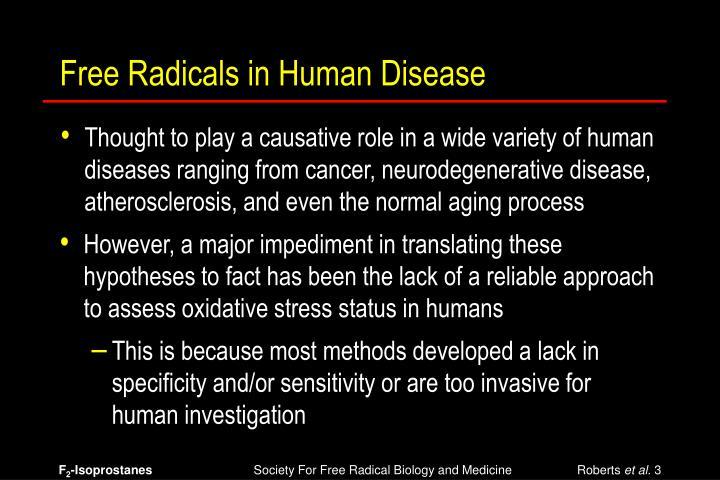 Free Radicals in Human Disease