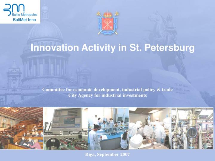 Innovation activity in st petersburg