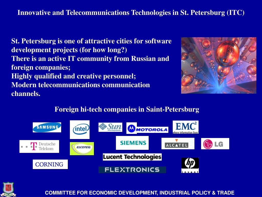 Innovative and Telecommunications Technologies in St. Petersburg (ITC)
