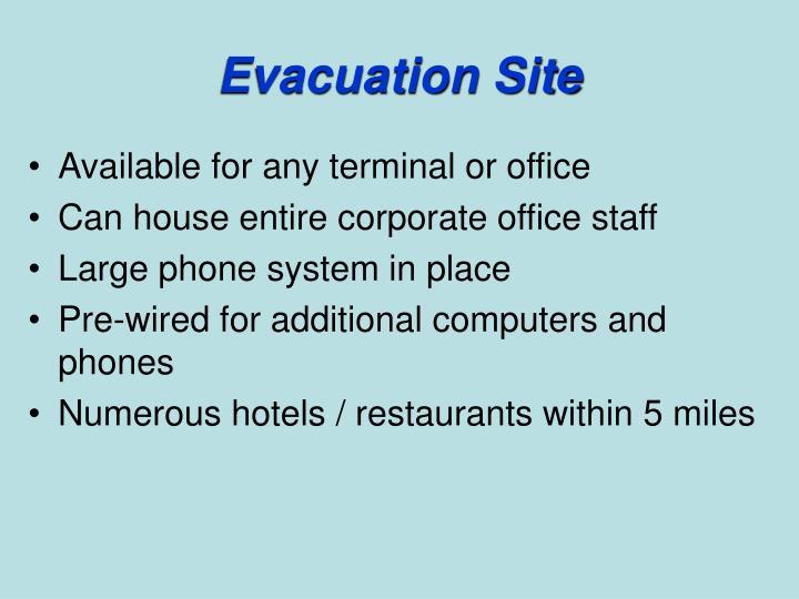 Evacuation Site