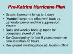 pre katrina hurricane plan