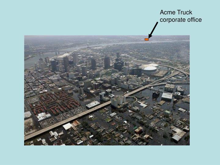 Acme Truck corporate office
